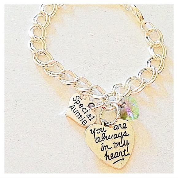 Hanalea Island Jewelry Co. Jewelry - ✨3 for $30✨Special Auntie 🌷 Silver Chain Bracelet